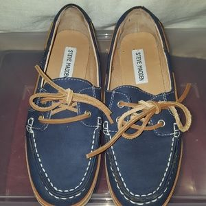 Steve Madden Navy Blue Boat Shoes